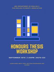 Honours Thesis Workshop