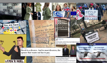 Collage of images in media, including social media.